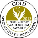 Gold award 2013 in Specialised Tourism Services