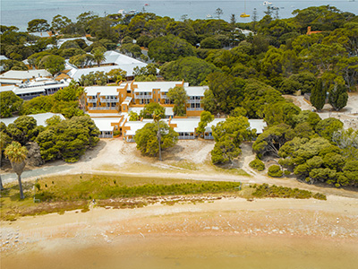 Aerial of Karma Resort Rottnest Island