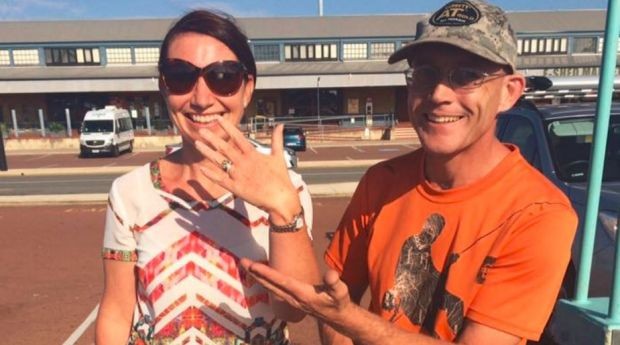Priceless lost ring found wedged in Rottnest Island reef